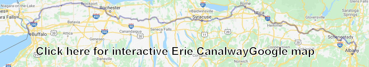 Erie Canalway map